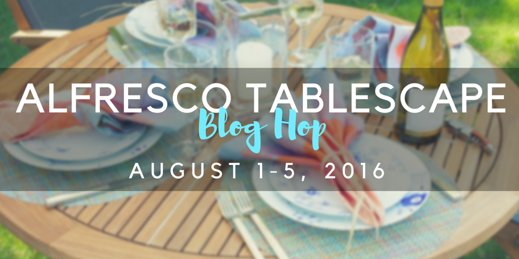 Al Fresco Tablescape Blog Hop - coming your way in August! | flourishandknot.com