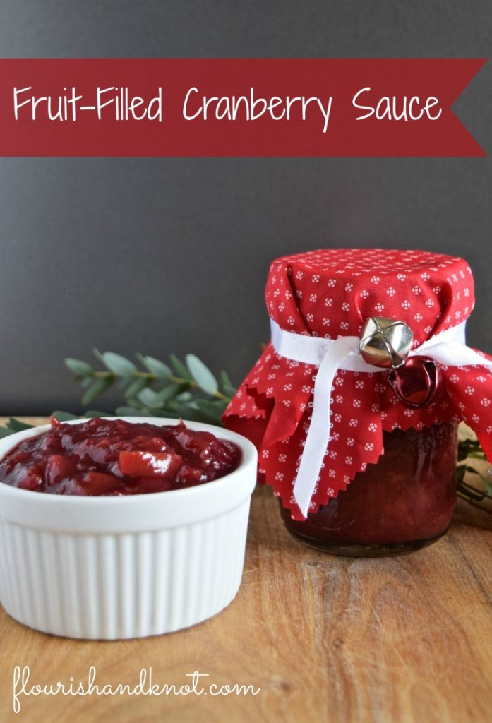 Fruit-filled cranberry sauce recipe for the holidays | baked brie with cranberry sauce | flourishandknot.com