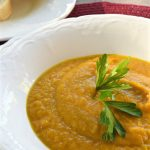 Carrot and Sweet Potato Soup | flourishandknot.com