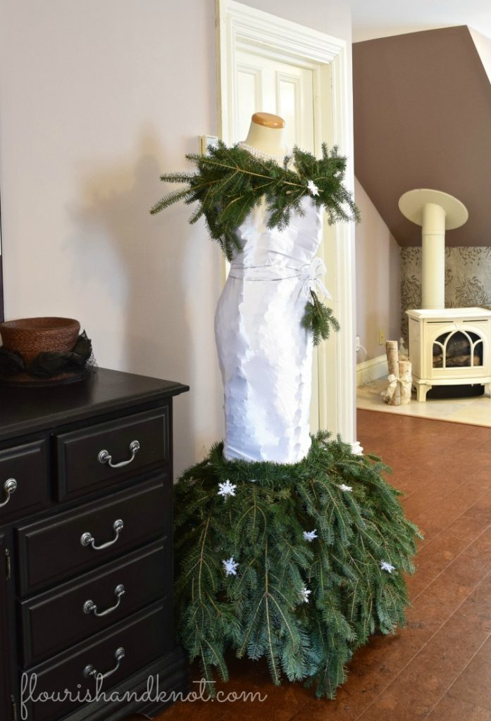 Christmas Tree Dress | Glamorous & Glitzy Christmas Decor | 3 Inspiring Ways to Decorate for Christmas