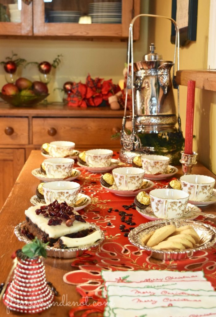 Elegant coffee station | Traditional & Classic Christmas Decor | 3 Inspiring Ways to Decorate for Christmas