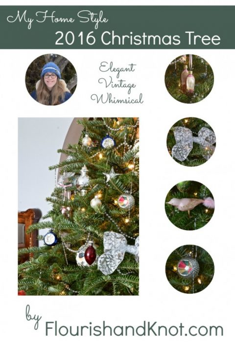 2016 Christmas tree | Elegant, Vintage, Whimsical Christmas Tree | My Home Style | flourishandknot.com