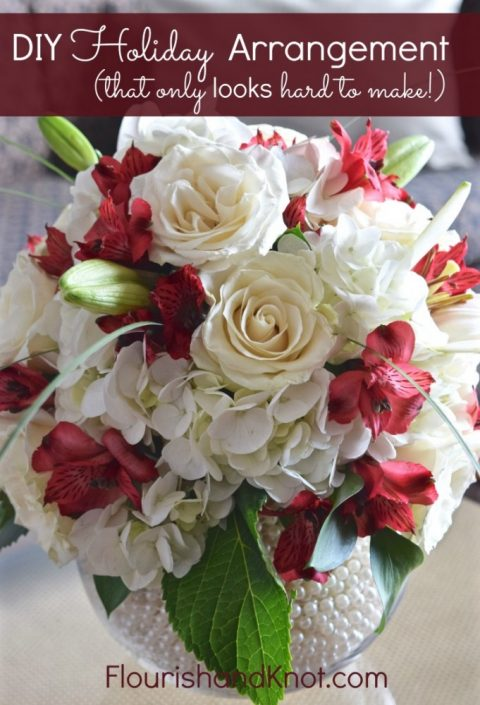 Diy Holiday Floral Arrangement That Only Looks Hard