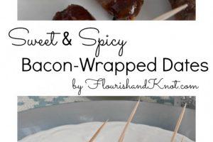Sweet & Spicy Bacon-Wrapped Dates | flourishandknot.com