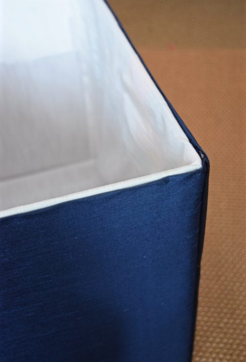 How to make a fabric-covered storage box | flourishandknot.com