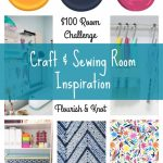 "Craft & Sewing Room Makeover | $100 Room Challenge | The Scary ""Before"""