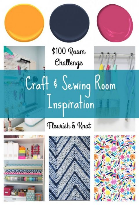 Craft & Sewing Room Inspiration | $100 Room Challenge | Flourish & Knot