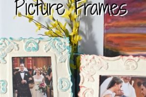 DIY Sponge-Painted Picture Frames | There for the Making | How to upcycle thrift store picture frames