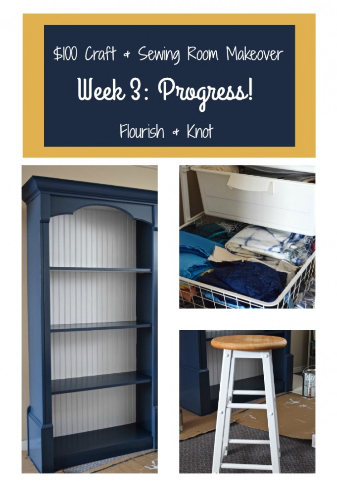 $100 Craft & Sewing Room Makeover | Week 3: Progress!