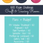 Craft & Sewing Room Makeover Plans & Progress | $100 Room Challenge | Week 2