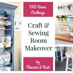 Craft & Sewing Space REVEAL! | DIY Home Decor | $100 Room Challenge
