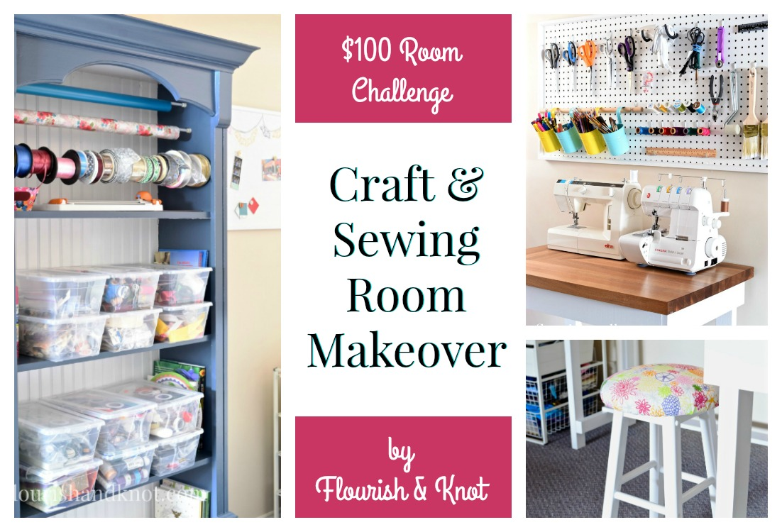 $100 Craft & Sewing Room Makeover | DIY Home Decor | Budget Decorating | $100 Room Challenge