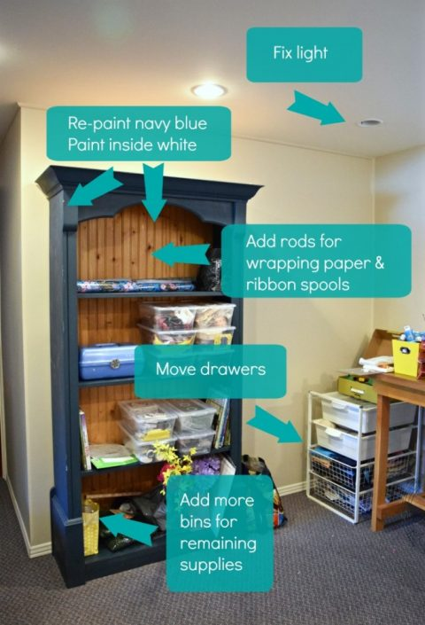 Craft & Sewing Room Makeover Plans | Navy, Fuschia, Goldenrod Palette | $100 Room Challenge | Week 2 | Budget Decor