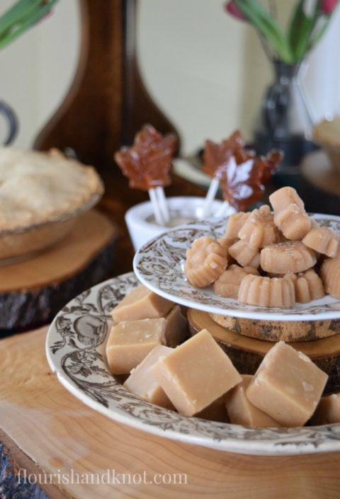 Maple fudge and maple sugar candies | Tourtiere (meat pie) | Sugar Shack Lunch | Cabane a sucre menu | A Year of Feasting - Spring | Traditional Canadian Quebec meal