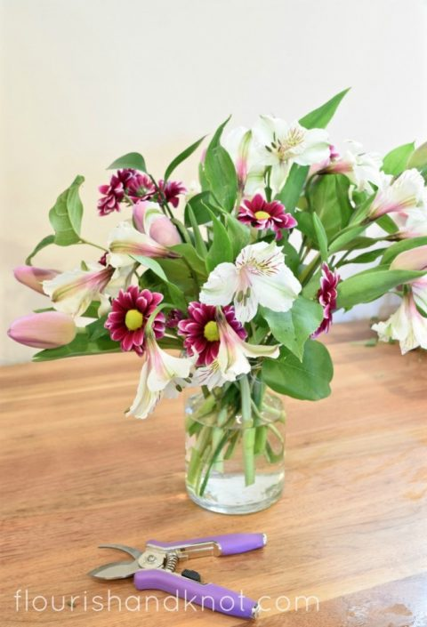Diy Flowers Spring Fl Arrangement How To Arrange In A Vase Without