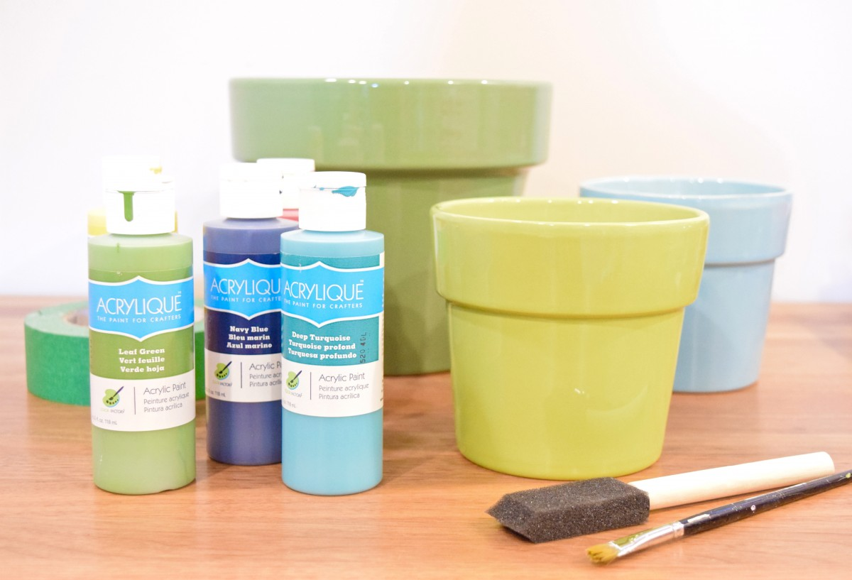 How to paint geometric DIY flower pots
