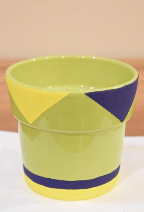 How to paint geometric DIY flower pots