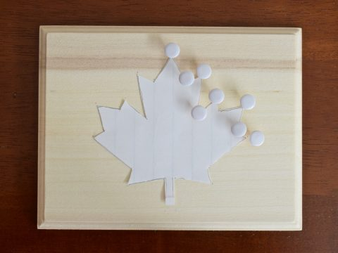 DIY Canada Day Maple Leaf String Art | Canada Day Crafts