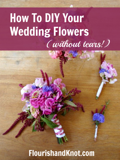 Doing Your Own Wedding Flowers | DIY Wedding Flowers | How to do your own wedding or event flowers without tears