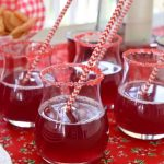 Canada Day Punch with white and red straws
