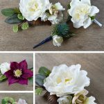 DIY Silk Floral Accessories | DIY Silk Floral Hair Comb | DIY Hair Accessories | DIY Wedding Comb | Silk Corsage and Boutonniere