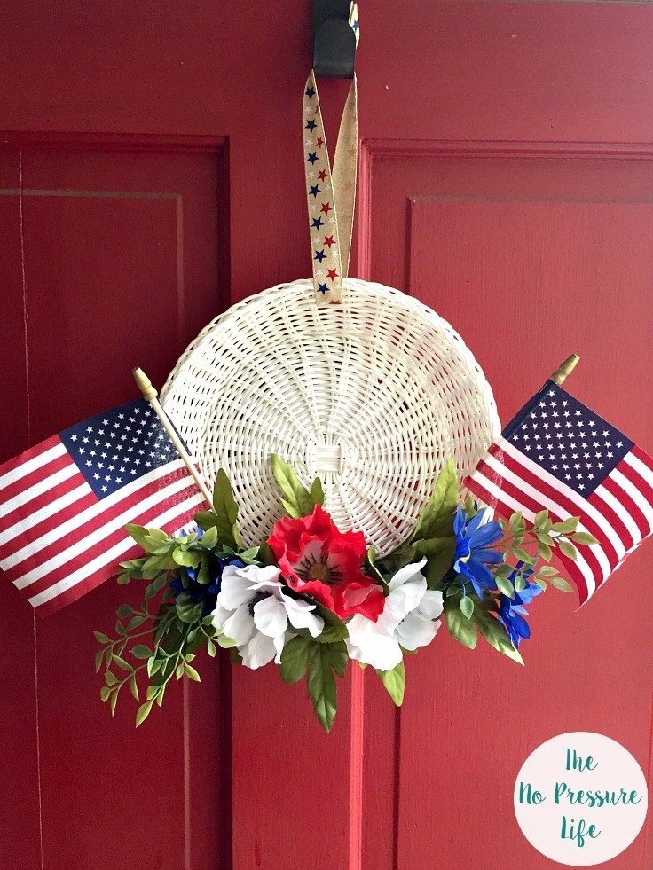 No-Glue Red, White, and Blue Wreath | Spectacular Summer Blog Hop #5