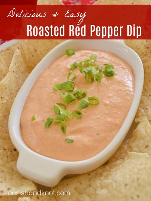 Roasted Red Pepper Dip Recipe | Spectacular Summer Blog Hop #21