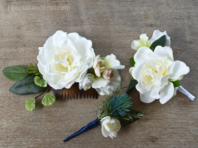 DIY Silk Floral Hair Comb | DIY Hair Accessories