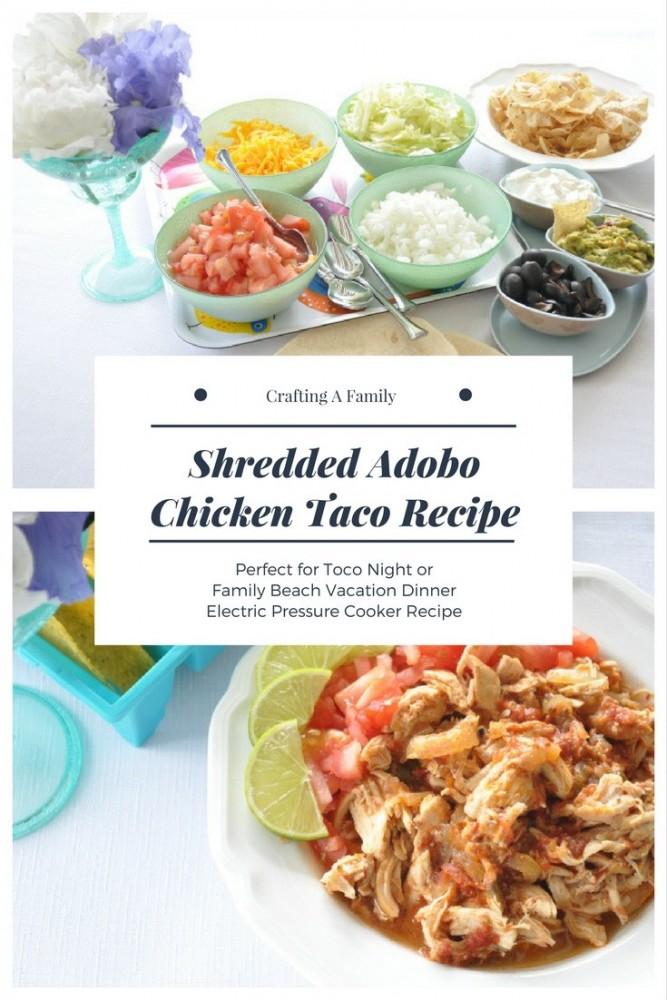 Shredded Adobo Chicken Recipe | Spectacular Summer Blog Hop #19