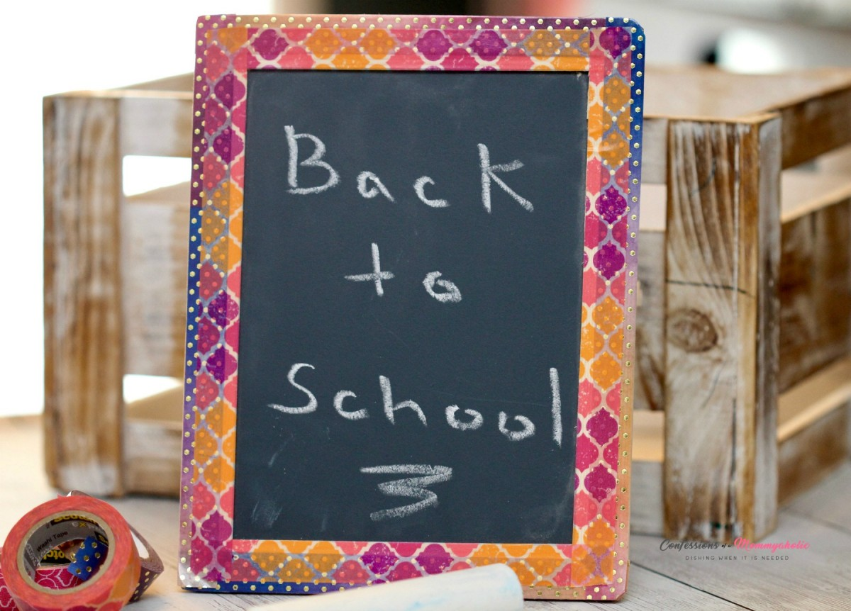 DIY Washi Tape Chalkboard | Spectacular Summer Blog Hop #18
