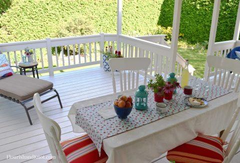 Full Deck | Cottage-Inspired Mini Deck Makeover | Milkshakes n Sunshine Fabric | Flourish & Knot