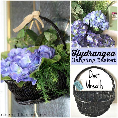 DIY Hydrangea Door Basket