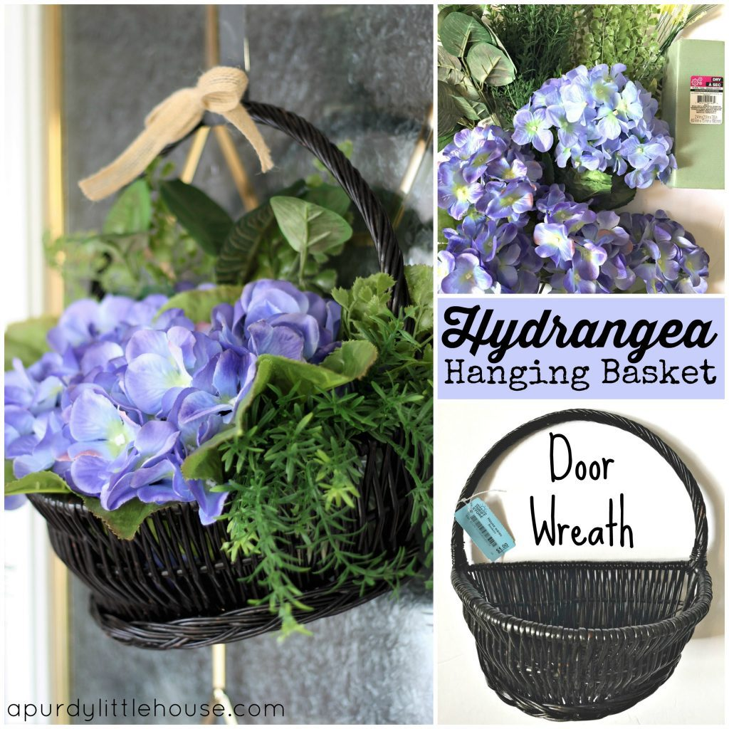 How to Make a Hydrangea Door Basket | Spectacular Summer Blog Hop #25