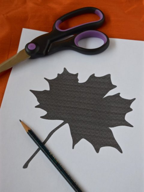 Maple Leaf Template | Embroidered Maple Leaf Pillow | There for the Making Challenge