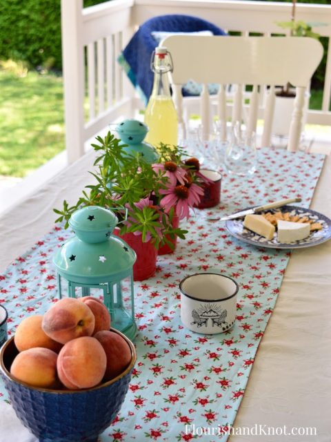 Ontario Peaches | Cottage-Inspired Mini Deck Makeover | Milkshakes n Sunshine Fabric | Flourish & Knot