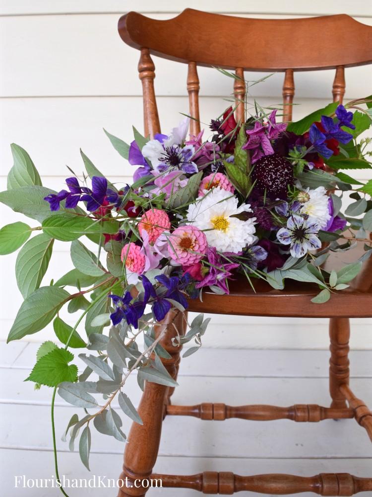 Wild & Moody Hand-Tied Bouquet - Wild Bouquet - Les Jardins de Frieda Bella - Flourish & Knot