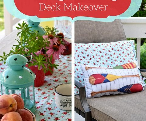 Cottage-Inspired (mini) Deck Makeover | Colourful Vintage Cottage Style