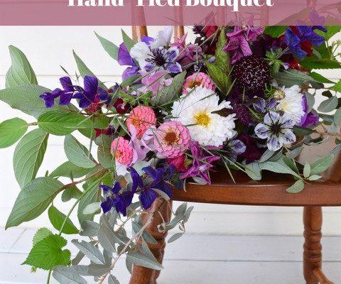 A Wild & Moody Hand-Tied Bouquet | Spotlight on Les Jardins de Frieda Bella