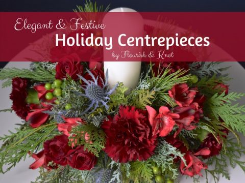 Order your elegant and festive floral holiday centrepiece from Flourish & Knot | Christmas Centerpiece | flourishandknot.com