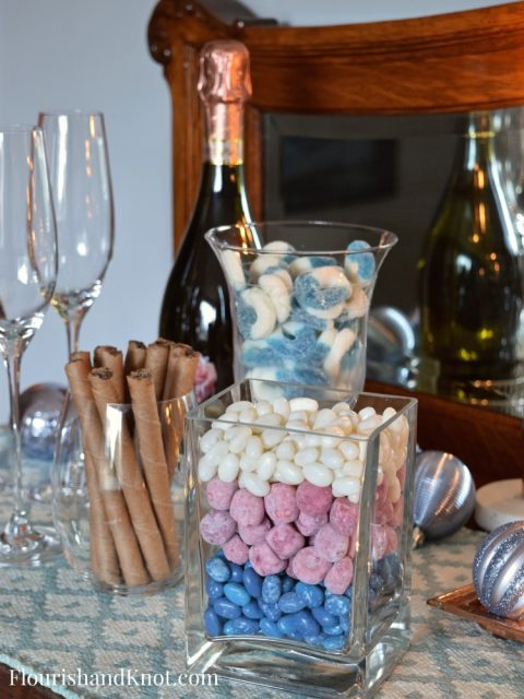 Layered Candy in a Clear Vase | Sweet & Sparkly New Year's Eve Candy Buffet | Year of Feasting