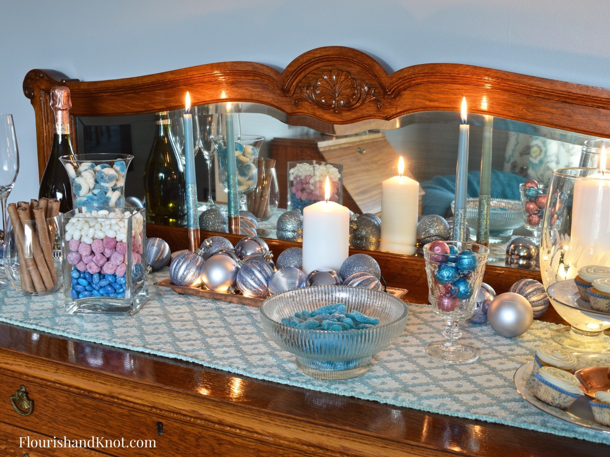 Sweet & Sparkly New Year's Eve Candy Buffet | Year of Feasting