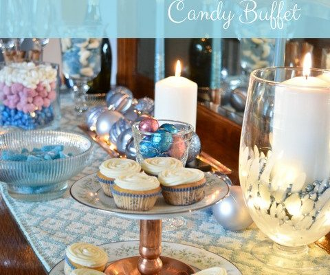 A Sweet & Sparkly New Year's Eve Candy Buffet