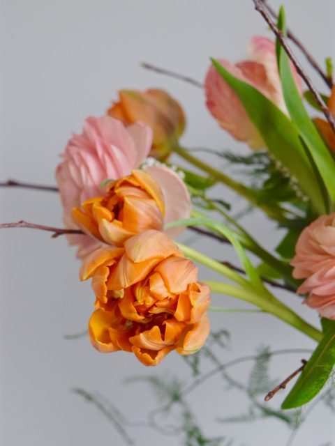 Mother's Day Flowers in the Montreal West Island | Order your Mother's Day Flowers in the Montreal West Island | Canadian-grown orange tulips | Flourish & Knot