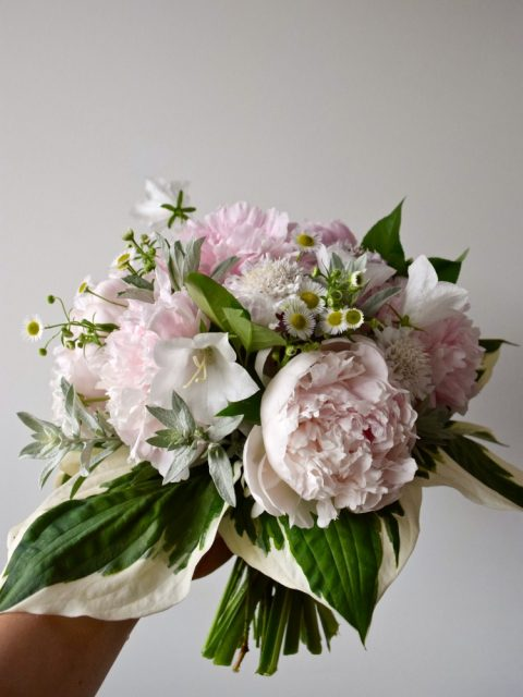 Blush and Cream Peony Bridal Bouquet | Flourish & Knot