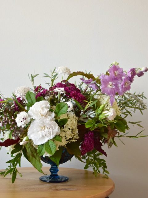 Jewel-Toned Compote Arrangement | Flourish & Knot