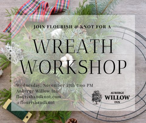 Christmas Wreath Workshop Montreal | Flourish & Knot
