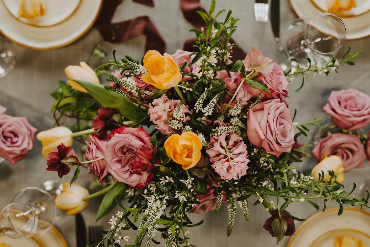 Lavender and yellow bridal bouquet | Florals by Flourish & Knot | Photo by Photographie M'Vivre