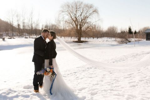 Winter wedding in Montreal | Winter wedding at the Verger du Flanc Nord | Mariage hiver | Flourish & Knot